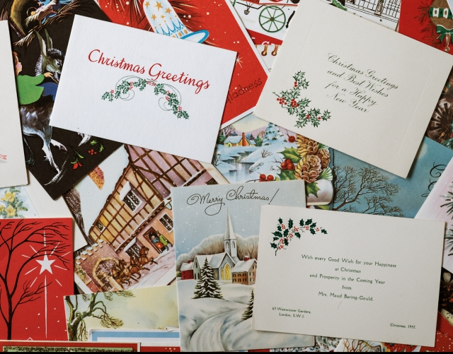 heaps of Christmas cards