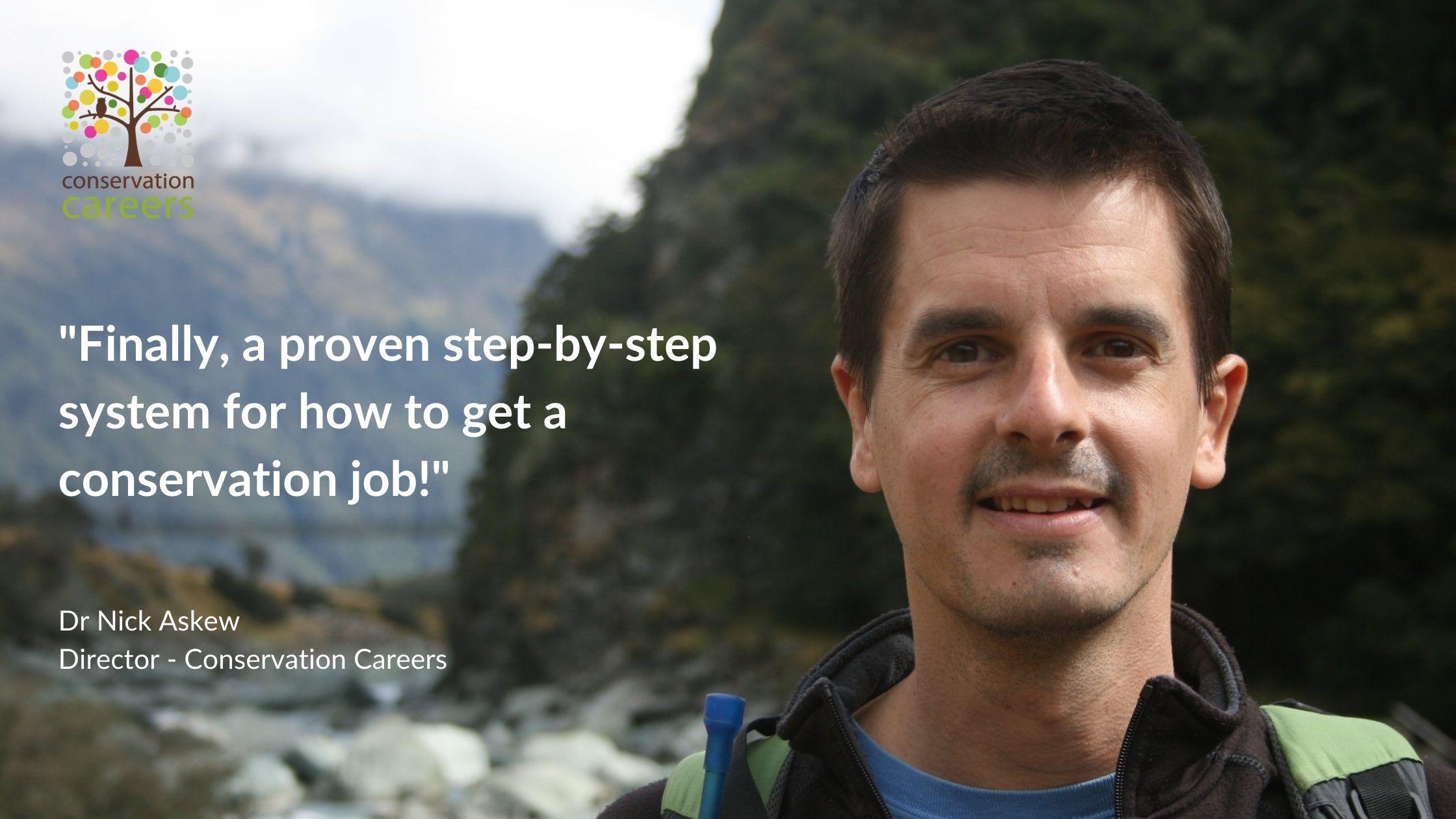 Conservation Careers Kick Starter